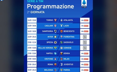 Serie A Partite Orari E Dove Vedere Le Partite Della Seconda Giornata C E Roma Juve Corriere Dell Umbria