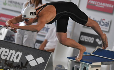 Federica Pellegrini ficticia: invade la Quinta Olimpiada y rompe a llorar
