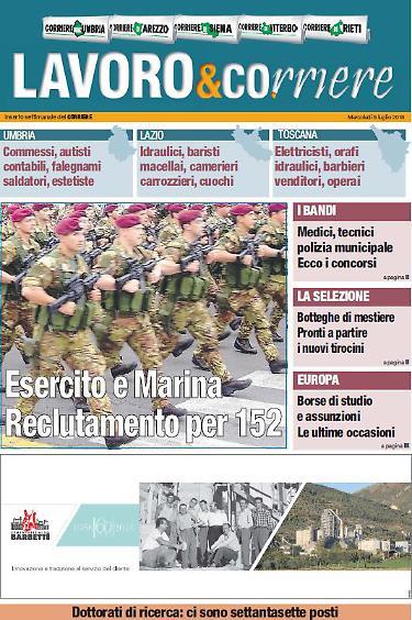 Lavoro, ecco le offerte: posti in Esercito e Marina ...