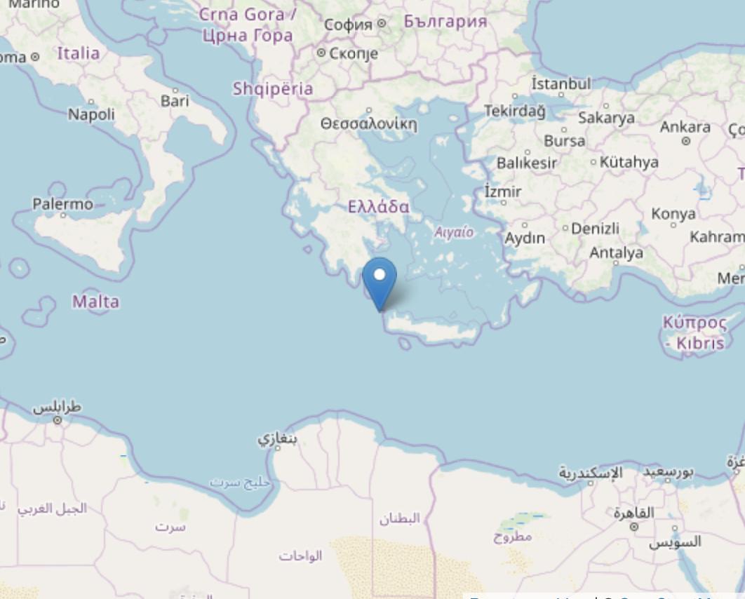 Cartina Creta.Ancora Un Forte Terremoto A Creta M 6 0 Alle 8 23 Gruppo Corriere